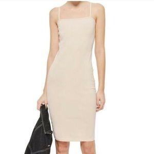 NWT TOPSHOP nude cami cotton slip dress